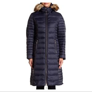 NWT Kate Spade navy blue puffer coat XS